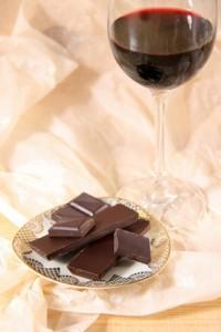 schokolade und rotwein