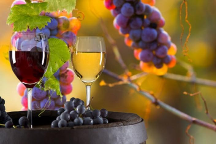 Rotwein und Weißwein