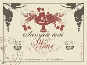 Label für Wein