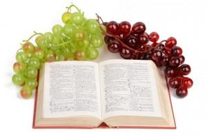 Weintrauben am Buch