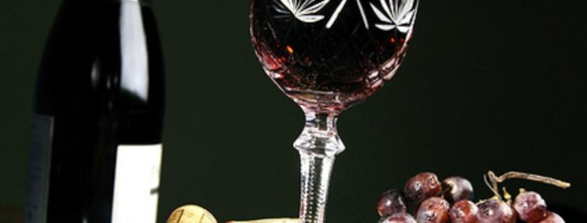 offenen Flasche Wein
